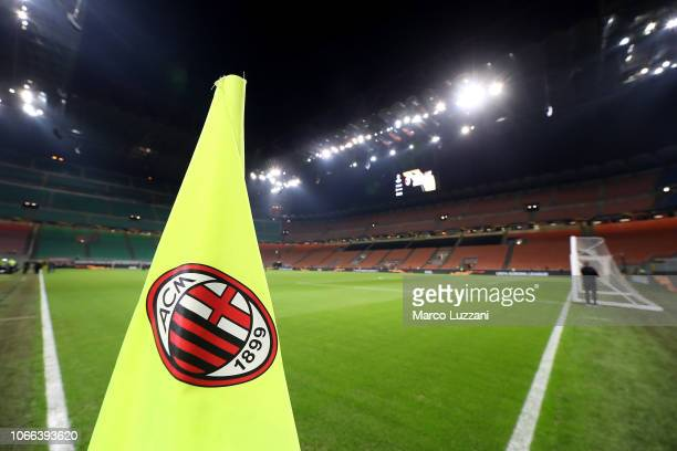 General view of the stadium before the UEFA Europa League Group F match between AC Milan and F91 Dudelange at Stadio Giuseppe Meazza on November 29,...