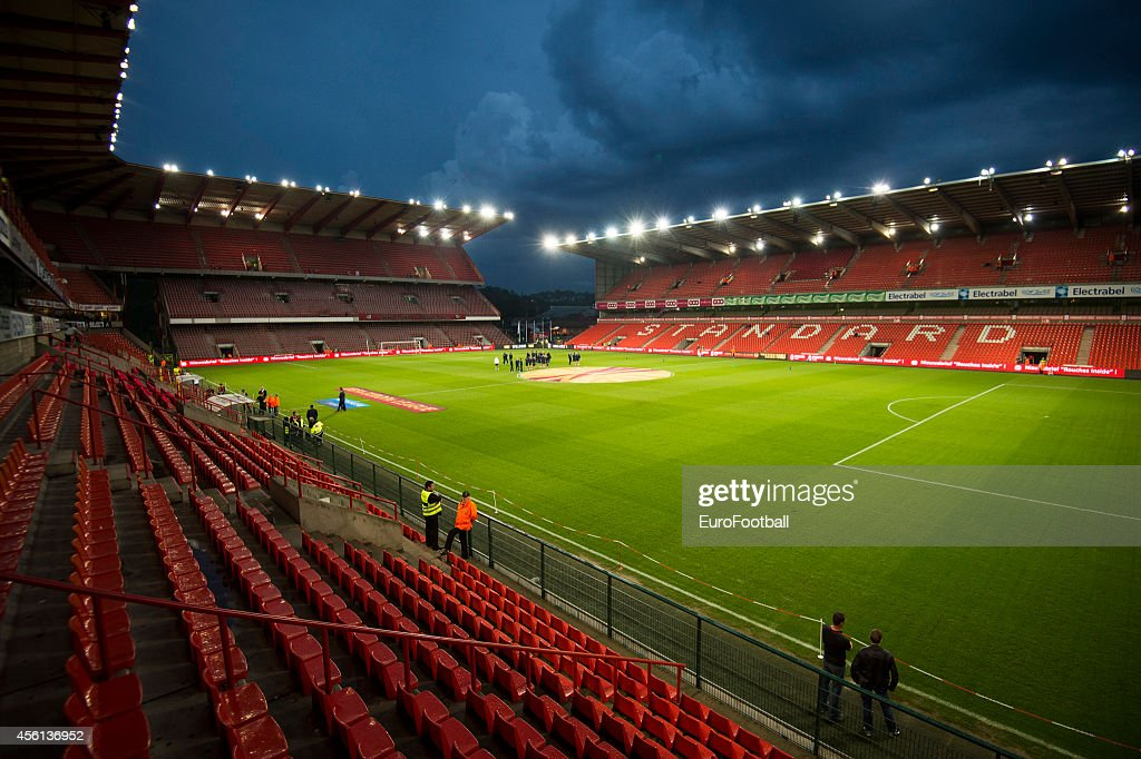 A general view of the stadium before the UEFA Europa League Group G match between R. Standard de Liege and HNK Rijeka at the Stade Maurice Dufrasne on September 18,2014 in Liege,Belgium.