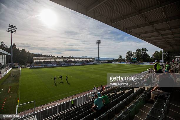 General view of the stadium before the UEFA Europa League Play Off Round 2nd Leg match between FK Jablonec and Ajax Amsterdam on August 27, 2015 in...