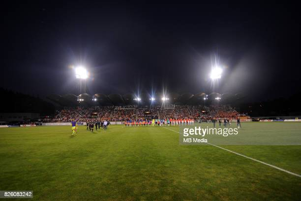 General view of the stadium before the UEFA Europa League Qualifier between MFK Ruzomberok and Everton on August 3 2017 in Ruzomberok Slovakia