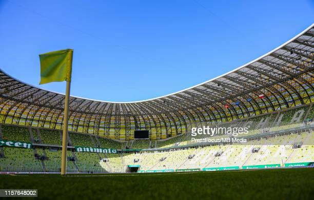 General view of the stadium before the UEFA Europa League Second Qualifying round 1st Leg between Lechia Gdansk and Brondby on July 25, 2019 in...
