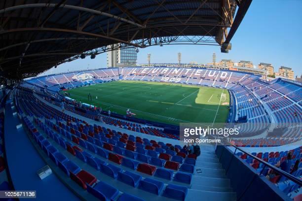 General view of the stadium Ciutat de Valencia prior to the La Liga game between Levante UD and Real Club Celta de Vigo on August 27 at Ciutat de...