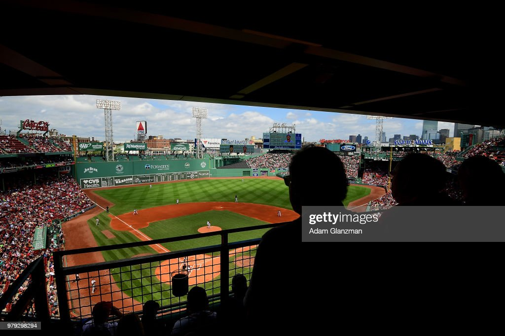 A general view of the stadium during a game between the Boston Red Sox and the Baltimore Orioles at Fenway Park on May 20, 2018 in Boston, Massachusetts.