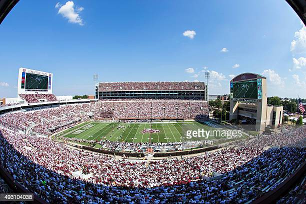 General view of the stadium during a game between the Mississippi State Bulldogs and the Northwestern State Demons at Davis Wade Stadium on September...