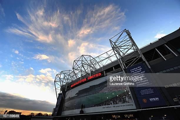 A general view of the Stadium during a Press Conference as Manchester United launch a new sponsorship deal with Epson at Old Trafford on November 26...