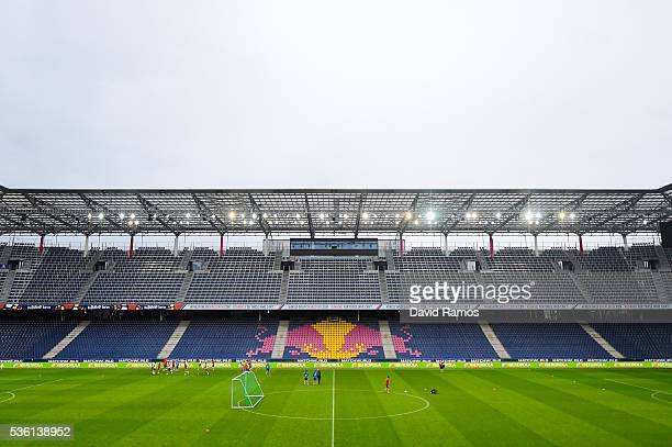 A general view of the stadium during a training session at the Red Bull Arena stadium on May 31 2016 in Salzburg Austria