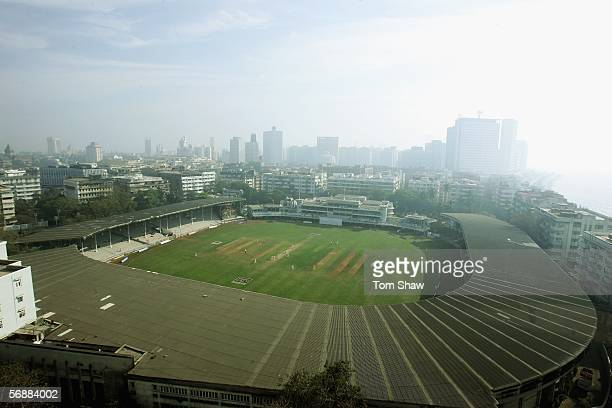 A general view of the stadium during day 2 of the 3 day warm up match between the CCI XI and England at the Brabourne Cricket ground on February 19...