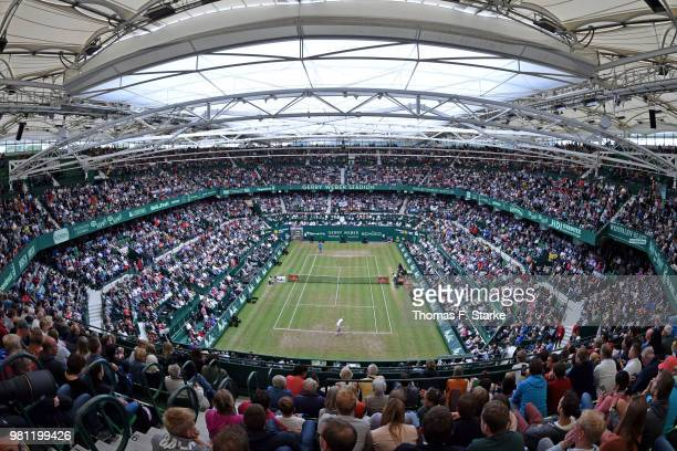 A general view of the stadium during day five of the Gerry Weber Open at Gerry Weber Stadium on June 22 2018 in Halle Germany