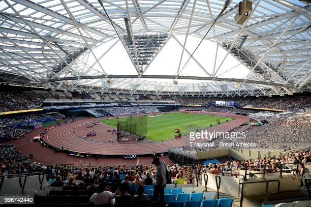 General view of the stadium during day one of the Athletics World Cup London at the London Stadium on July 14, 2018 in London, England.