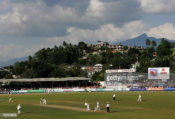 General view of the stadium during Day one of the First Test Match between Sri Lanka and England at Asgiriya Stadium on December 1, 2007 in Kandy,...
