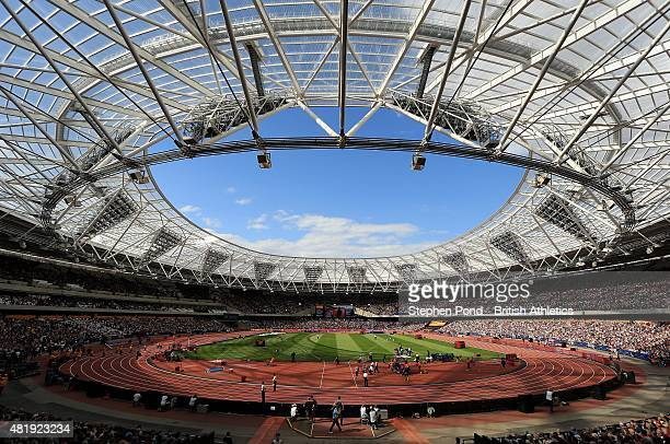 General view of the stadium during day two of the Sainsbury's Anniversary Games IAAF Diamond League event at The Stadium - Queen Elizabeth Olympic...