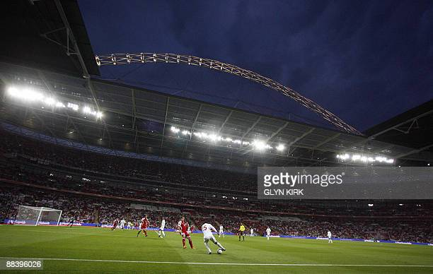General view of the stadium during England's World Cup Qualifying match against Andorra Wembley Stadium London England on June 10 2009 AFP PHOTO/Glyn...