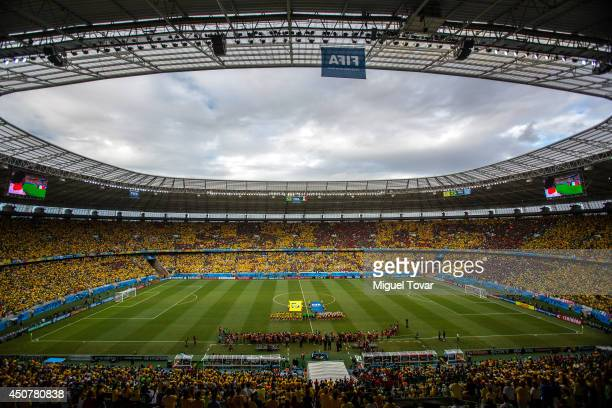 A general view of the stadium during the 2014 FIFA World Cup Brazil Group A match between Brazil and Mexico at Castelao on June 17 2014 in Fortaleza...