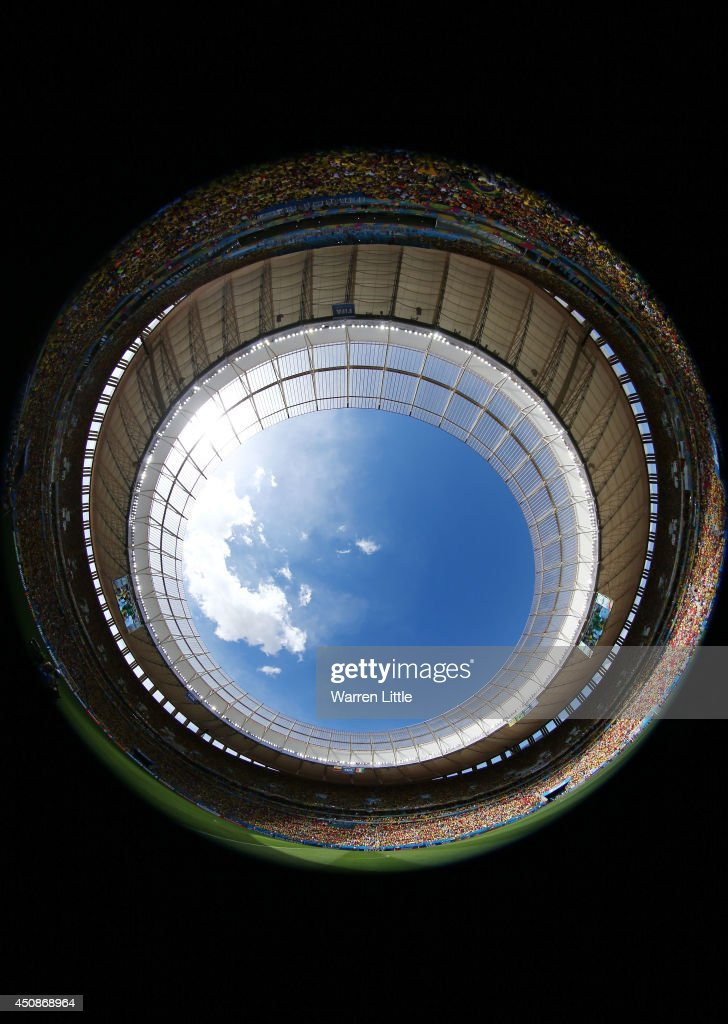 A general view of the stadium during the 2014 FIFA World Cup Brazil Group C match between Colombia and Cote D'Ivoire at Estadio Nacional on June 19, 2014 in Brasilia, Brazil.