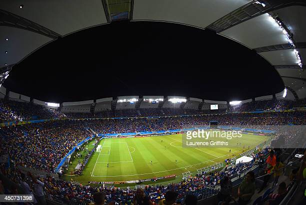 A general view of the stadium during the 2014 FIFA World Cup Brazil Group G match between Ghana and the United States at Estadio das Dunas on June 16...