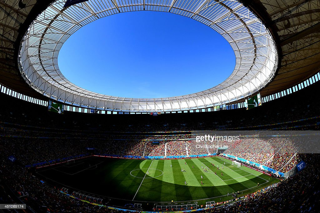 A general view of the stadium during the 2014 FIFA World Cup Brazil Group G match between Portugal and Ghana at Estadio Nacional on June 26, 2014 in Brasilia, Brazil.