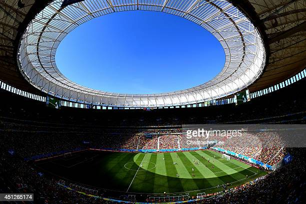 General view of the stadium during the 2014 FIFA World Cup Brazil Group G match between Portugal and Ghana at Estadio Nacional on June 26, 2014 in...