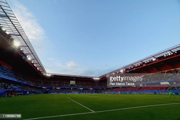A general view of the stadium during the 2019 FIFA Women's World Cup France group C match between Italy and Brazil at Stade du Hainaut on June 18...