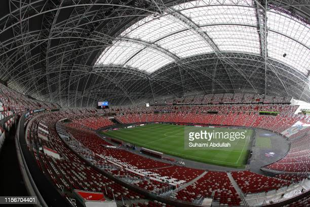 General view of the stadium during the 2019 International Champions Cup match between Manchester United and FC Internazionale at the Singapore...