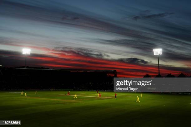 A general view of the stadium during the 5th NatWest Series ODI between England and Austalia at the Ageas Bowl on September 16 2013 in Southampton...