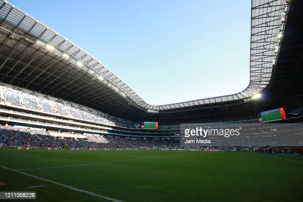 General view of the stadium during the 9th round match between Monterrey and Atletico San Luis as part of the Torneo Clausura 2020 Liga MX at BBVA...
