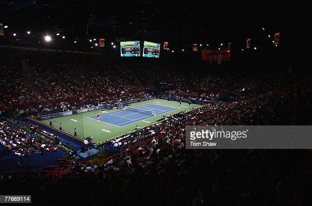 General view of the stadium during the ATP Masters Series at the Palais Omnisports De Paris-Bercy on November 3, 2007 in Paris, France.