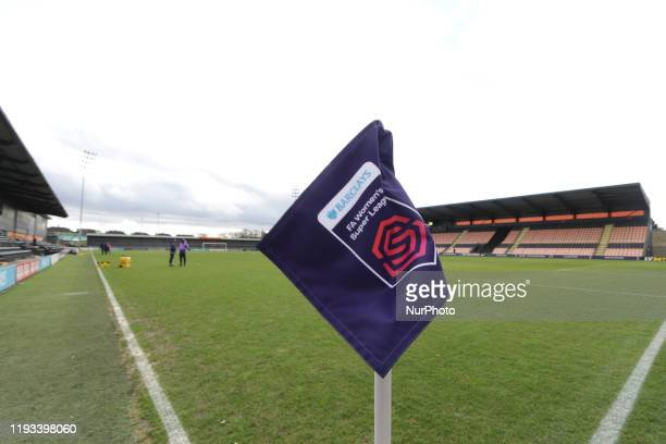 A general view of the stadium during the Barclays FA Women's Super League match between Tottenham Hotspur and West Ham United at The Hive Edgware...