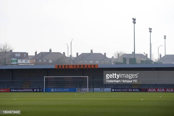 General view of the stadium during the Barclays FA Women's Super League match between Tottenham Hotspur Women and Everton Women at The Hive on...