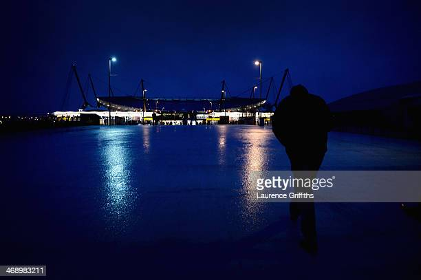 A general view of the stadium during the Barclays Premier League match between Manchester City and Sunderland at Etihad Stadium on February 12 2014...