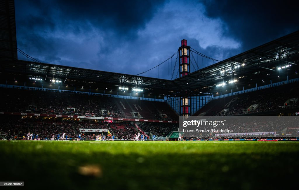 General view of the stadium during the Bundesliga match between 1. FC Koeln and VfL Wolfsburg at RheinEnergieStadion on December 16, 2017 in Cologne, Germany.