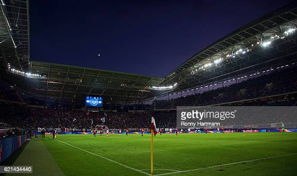 General view of the stadium during the Bundesliga match between RB Leipzig and 1 FSV Mainz 05 at Red Bull Arena on November 6 2016 in Leipzig Germany