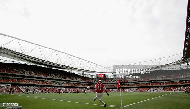 A general view of the stadium during the Dennis Bergkamp testimonial match between Arsenal and Ajax at the Emirates Stadium on July 22 2006 in London...