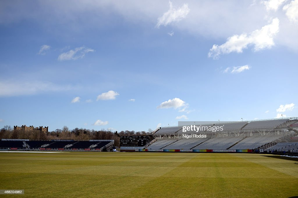 A general view of the stadium during the Durham CCC Photocall at The Riverside on March 31, 2015 in Chester-le-Street, England.