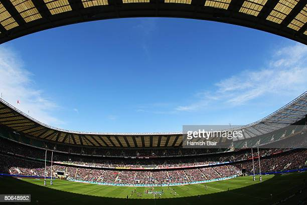 A general view of the stadium during the EDF Energy Cup Final between Leicester Tigers and the Ospreys at Twickenham on April 12 2008 in London...