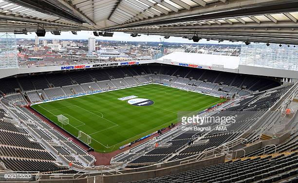 General view of the stadium during the EFL Cup match between Newcastle United and Wolverhampton Wanderers at St James' Park on September 20 2016 in...