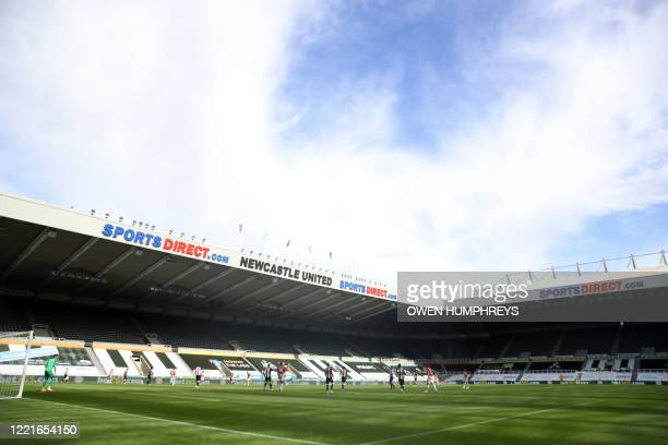 General view of the stadium during the English Premier League football match between Newcastle United and Sheffield United at St James' Park in...