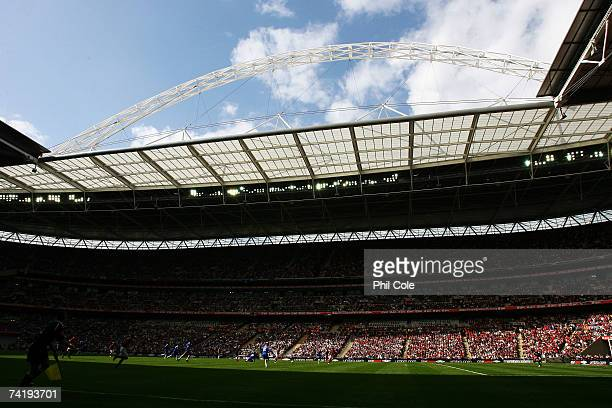 General view of the stadium during the FA Cup Final match sponsored by E.ON between Manchester United and Chelsea at Wembley Stadium on May 19, 2007...