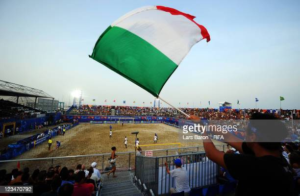 A general view of the stadium during the FIFA Beach Soccer World Cup Group A match between Senegal and Italy at Stadium del Mare on September 3 2011...