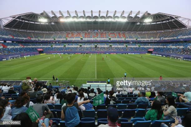 General view of the stadium during the FIFA U20 World Cup Korea Republic 2017 group F match between USA and Saudi Arabia at Daejeon World Cup Stadium...