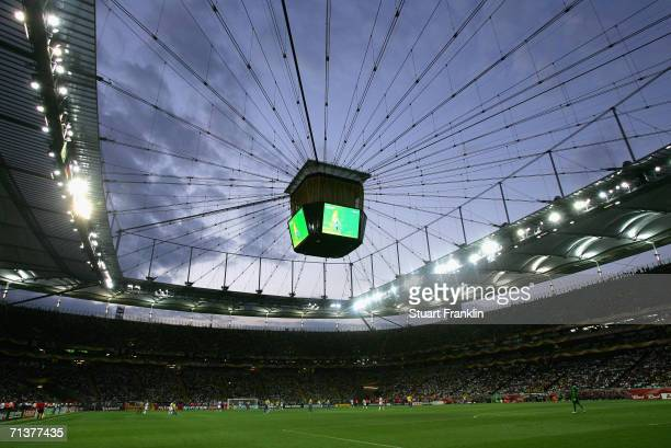 General view of the stadium during the FIFA World Cup Germany 2006 Quarter-final match between Brazil and France at the Stadium Frankfurt on July 1,...