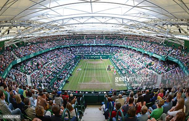 A general view of the stadium during the final day of the Gerry Weber Open at Gerry Weber Stadium on June 15 2014 in Halle Germany