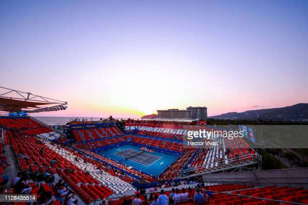 General view of the Stadium during the final match between Yafan Wang of China and Sofia Kenin of United States as part of the day 6 of the Telcel...