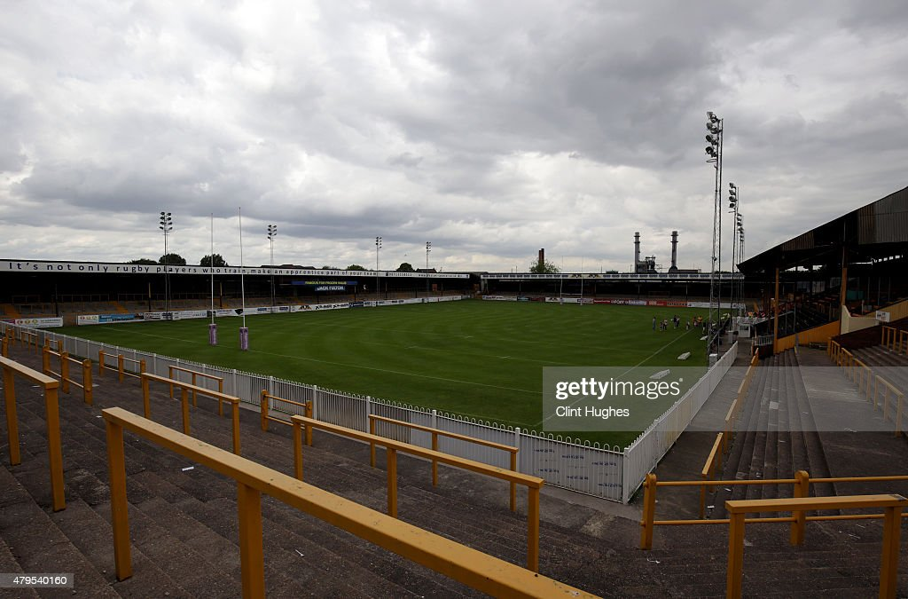 A general view of the stadium during the First Utility Super League match between Castleford Tigers and Widnes Vikings at The Jungle on July 5, 2015 in Castleford, England.