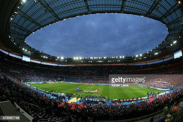 A general view of the stadium during the French League Cup Final between Paris SaintGermain and Lille LOSC at Stade de France on April 23 2016 in...