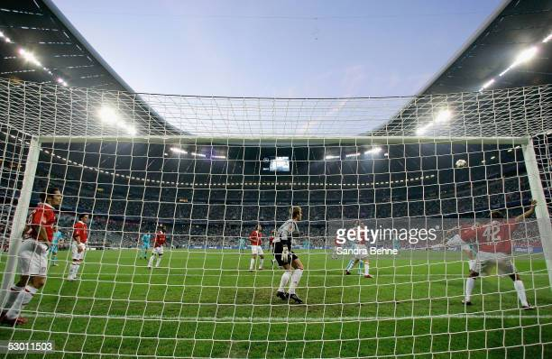 General view of the stadium during the friendly match between TSV 1860 Munich and Bayern Munich at the Allianz Arena on June 2 2005 in Munich Germany