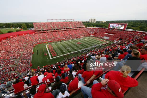 General view of the stadium during the game between the Rutgers University Scarlett Knights and the University of Cincinnati Bearcats on September 7,...