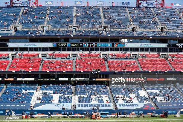 General view of the stadium during the game between the Tennessee Titans and the Chicago Bears at Nissan Stadium on November 08, 2020 in Nashville,...