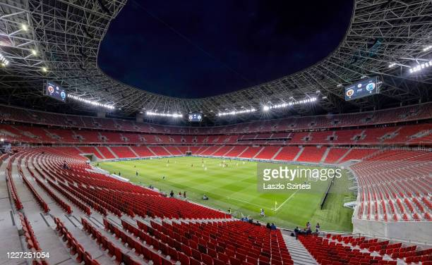 General view of the stadium during the Hungarian Cup semifinal 2nd leg match between Budapest Honved and MTK Budapest at Puskas Arena on May 26 2020...