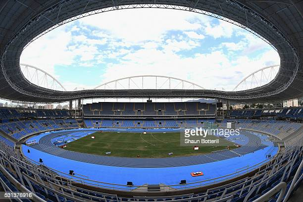 A general view of the stadium during the Ibero American Athletics Championships Aquece Rio Test Event for the Rio 2016 Olympics on May 14 2016 in Rio...