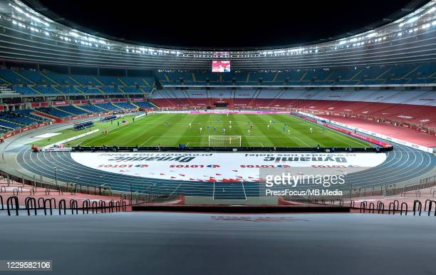 General view of the stadium during the international friendly match between Poland and Ukraine at Silesian Stadium on November 11 2020 in Chorzow...